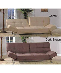 Six-position Micro-suede Sofa Bed/ Loveseat