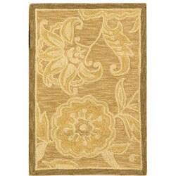 Safavieh Hand-hooked Eden Abrashed Beige/ Light Brown Wool Rug (1'8 x 2'6)
