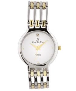 Paul Du Pree Men's 'Famous Look' Diamond Quartz Watch