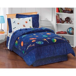 Galaxy 6-piece Space Cotton/Polyester Bed in a Bag with Sheet Set