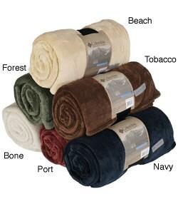 Overstock - Columbia Signature Fleece Throw Blanket - $13.49