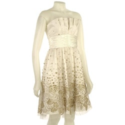 Adrianna Papell Women's Glittered Tulle Dress from Overstock.com