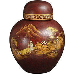 Red Crackle Ginger Jar (China)