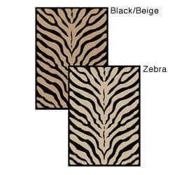 Virginia Zebra Animal Print Rug (7'9 x 11')