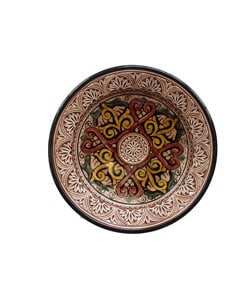 Engraved Ceramic Plate (Morocco)