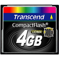 Transcend 4GB 300x CompactFlash Memory Card