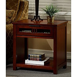 Overstock - Cherry Mission-style End Table - $287.29