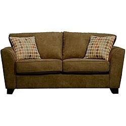 Gaff Moss Green Microfiber Modern Sofa