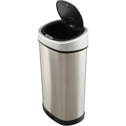 Touchless 13.2-gallon Stainless Steel Trash Can