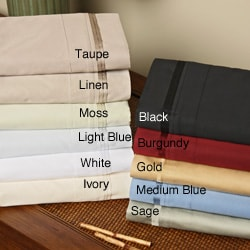 Egyptian Cotton 650 Thread Count Solid Sheet Set