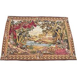 Herat Oriental Handmade French-style Tapestry (4'8 x 6'7) 4015359