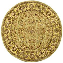 Safavieh Handmade Classic Kasha Gold Wool Rug (6' Round)