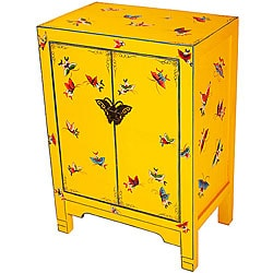 Hand-painted Butterflies Two-door Storage Cabinet