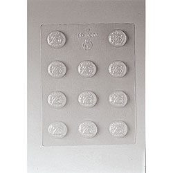 Paderno Digit 25 1.25-inch Chocolate Mold