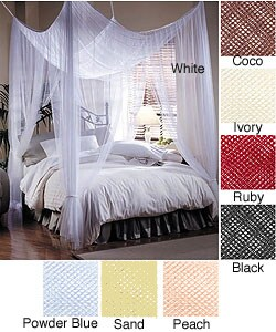 Nicamaka® Casablanca Four-Point Bed Canopy / Mosquito Net - Decor