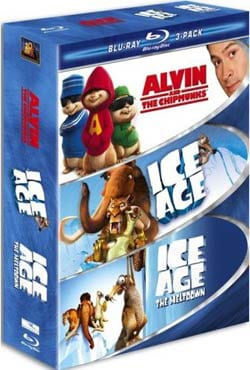 Family 3-Pack (Alvin and the Chipmunks / Ice Age / Ice Age 2) (Blu-ray Disc)
