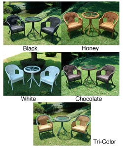 Outdoor Resin Bistro Set/5 Colors