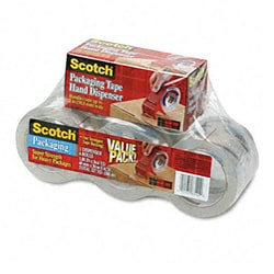 3M Dispenser and Packaging Tape Rolls (Pack of 6)