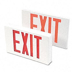 LED Exit Sign with Battery Back-up