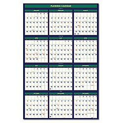 Poster Style Fiscal Wall Calendar