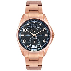Jacques Lemans Men's Geneve Rose Goldplated Watch