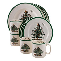 Spode Christmas Tree 12-piece Dinnerware Set