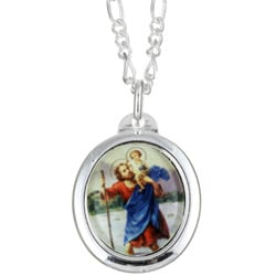 Sterling Silver St.Christopher Necklace