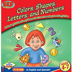 Early Learning Fun 'Colors, Shapes, Letters and Numbers' Software
