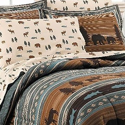 North Woods All Cotton Full-size Bedding Ensemble