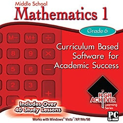 High Achiever Middle School Mathematics 1 Educational Software