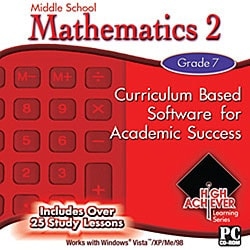High Achiever Middle School Mathematics 2 Educational Software