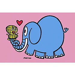 Elephant and Peanut by Marco Canvas Art