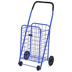 Mini Blue Shopping Cart