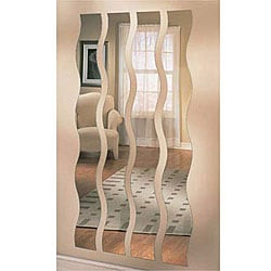 Set of Four Wave Strip Mirrors