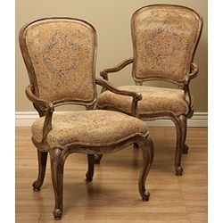 Thomasville Dining Fusion Upholstered Arm Chairs (Set of 2)