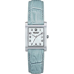 Swiss Military Lugano Women's Light Blue Leather Strap Watch Model # 06-6089-04-023