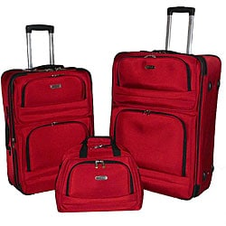 Kenneth Cole Higher Limits Red 3-piece Luggage Set
