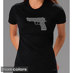 Los Angeles Pop Art Women's '2nd Amendment Gun' Shirt