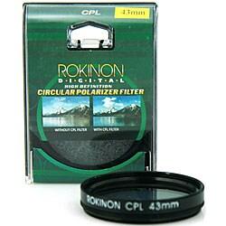 Rokinon 43mm High Definition CPL Camera Lens Filter