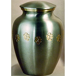 Classic Pewter Paw Prints Large Pet Urn - For pets up to 85 lbs