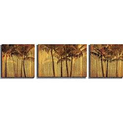 Amori 'Sunset Palms' Canvas 3-piece Art Set