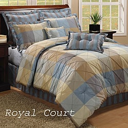 Royal Court 8-piece Blue Comforter Set