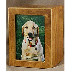 Natural Large Photo Pet Urn - For pets up to 85 lbs