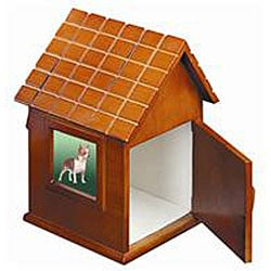 Natural Wood Large Dog House Pet Urn - For dogs up to 90 lbs