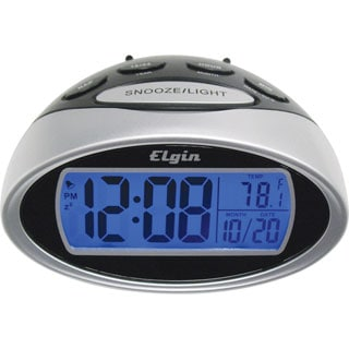 Elgin 3408E LCD Alarm Clock