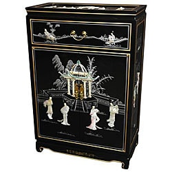Handmade Mother of Pearl Shoe Cabinet (China)