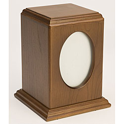 Tribute Walnut Wood Pet Urn (Up to 60 Pounds)
