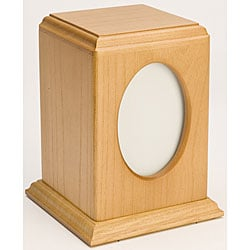 Tribute Oak Wood Pet Urn (Up to 60 Pounds)