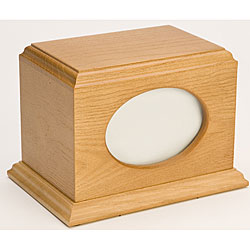 Citation Oak Wood Pet Urn (Up to 60 Pounds)