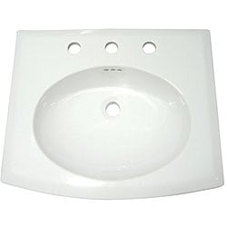 Courtyard Surface-Mount Single Basin China Sink
